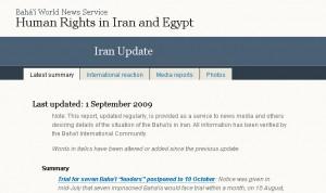 Iran-Update der Internationalen Bahá'í-Gemeinde