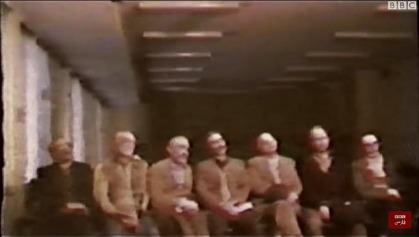 """Der Film """"Iranian Revolutionary Justice"""" zeigt die Funktionsweise und Folgen von """"Revolutionsgerichten"""" nach der Islamischen Revolution von 1979 und geht dabei auch auf den Prozess ein, der 1981 gegen die Baha'i-Führung geführt wurde."""