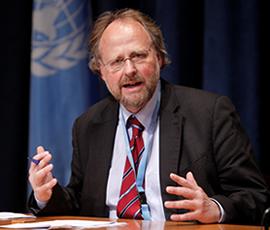 Prof. Dr. Dr. Heiner Bielefeldt, UN-Sonderberichterstatter für Religions-und Weltanschauungsfreiheit. © UN Photo/Paulo Filgueiras